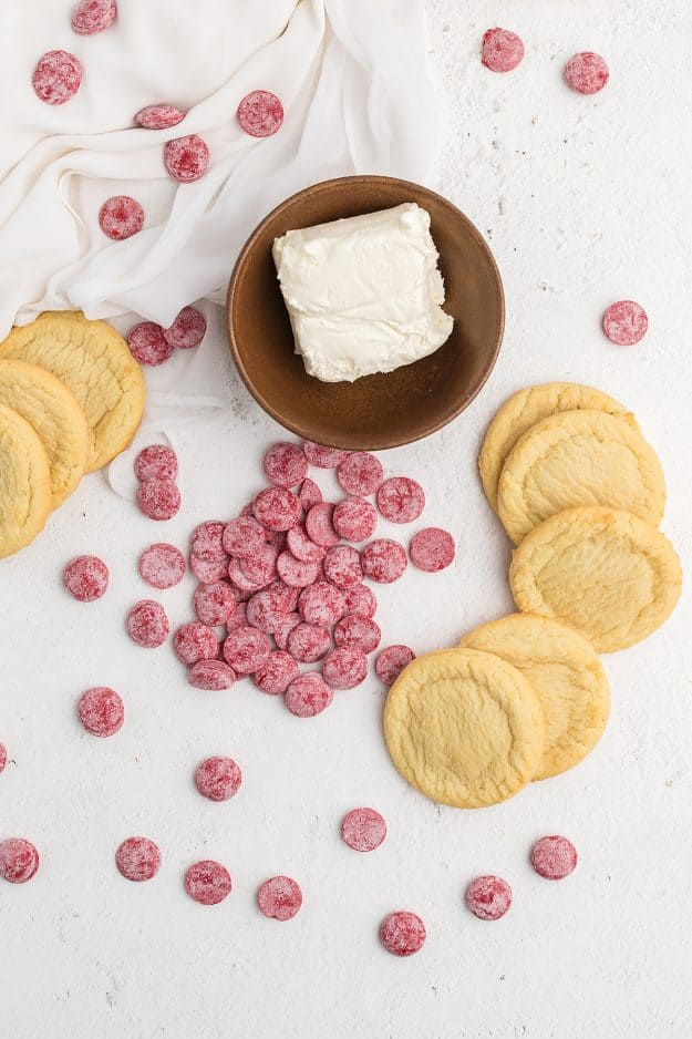 ingredients for sugar cookie balls.