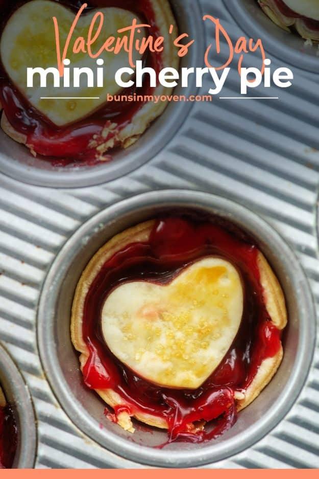 cherry pie in muffin tin