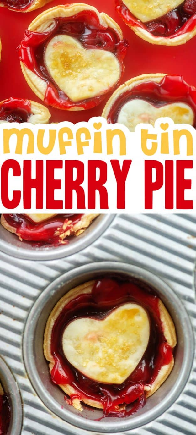collage of cherry pie images