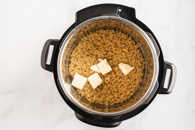 pasta in Instant Pot.