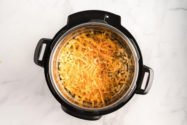macaroni and cheese in Instant Pot.