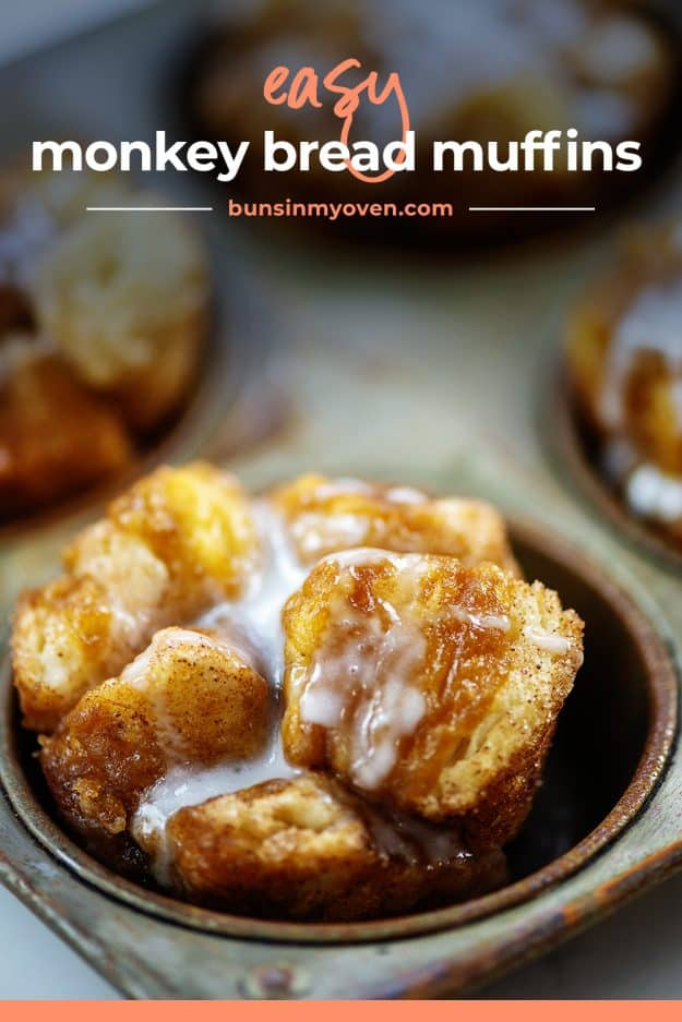 monkey bread muffin in vintage muffin tin.