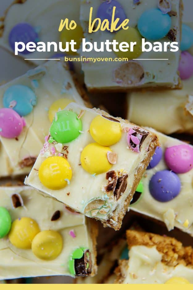 no bake bars in a pile.