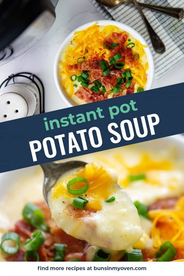 collage of potato soup images.