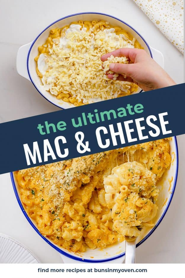 collage of macaroni and cheese images
