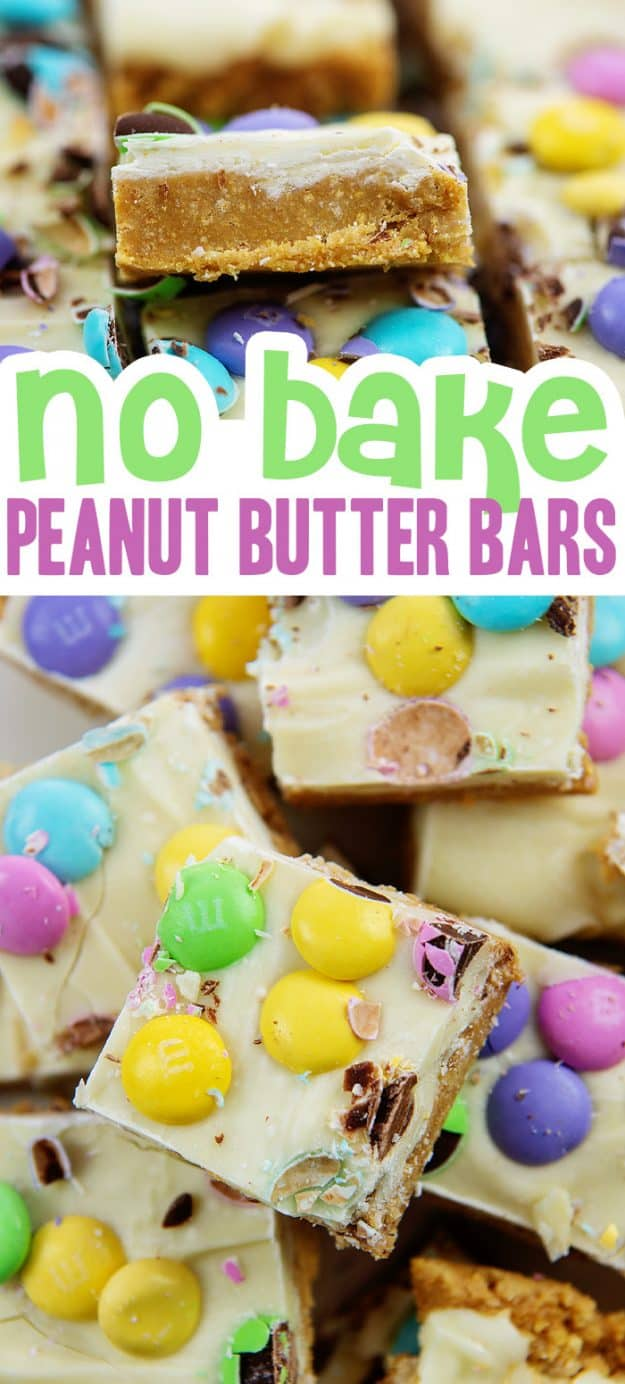 collage of peanut butter bar images.