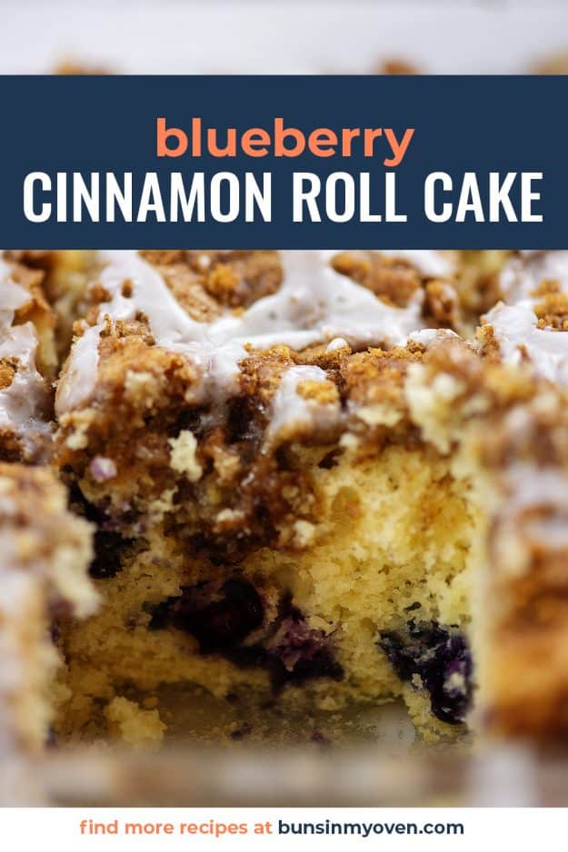 cinnamon roll cake slice