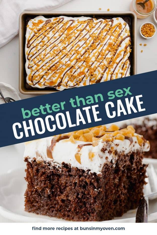 chocolate cake collage.