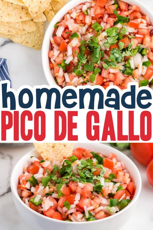 collage of pico de gallo images for pinterest.
