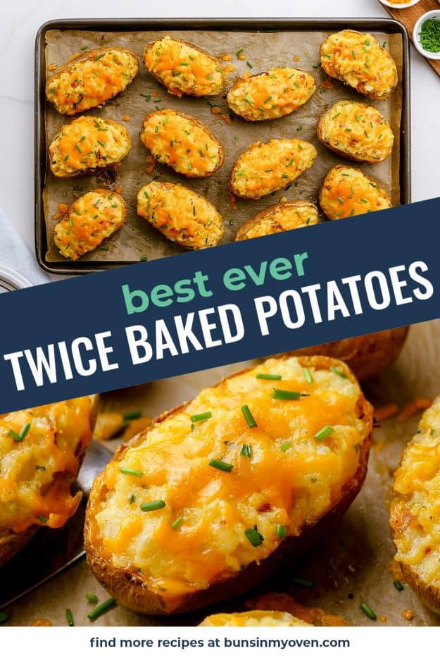 baked potatoes collage