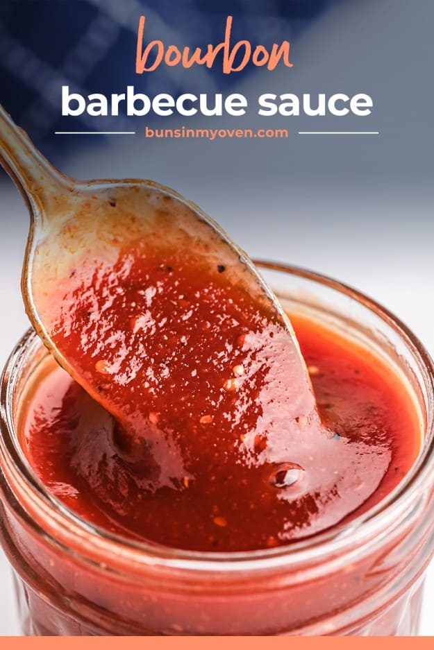 barbecue sauce on spoon.