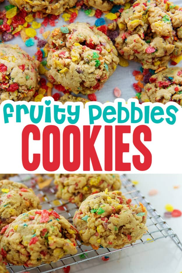 collage of cereal cookies images.