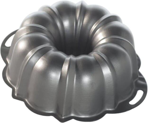silver bundt pan.