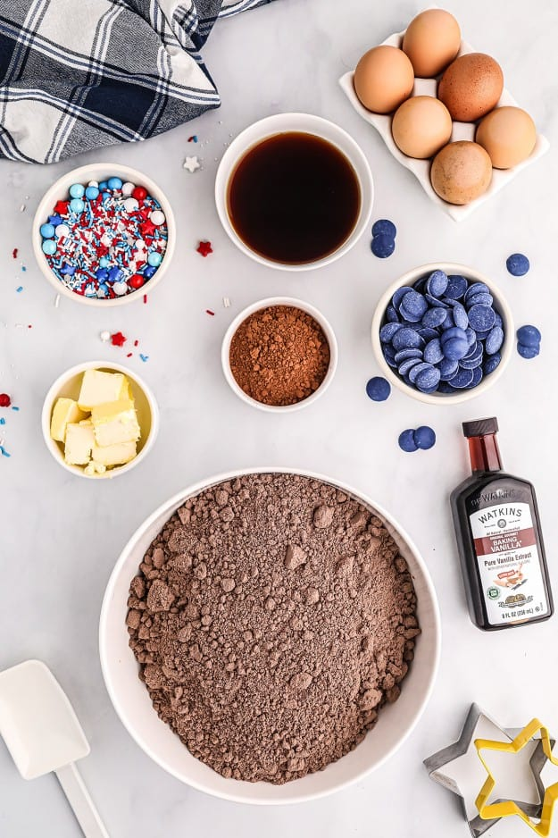 ingredients for brownie recipe.