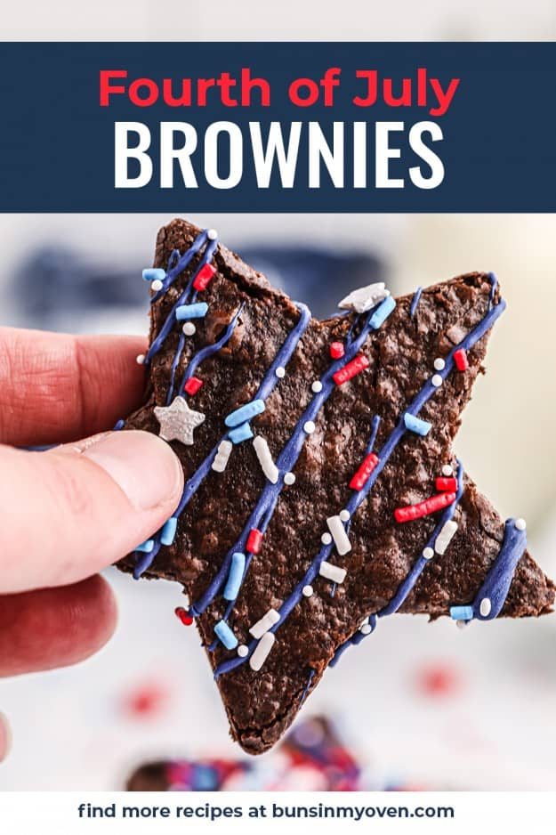 hand holding a star shaped brownie