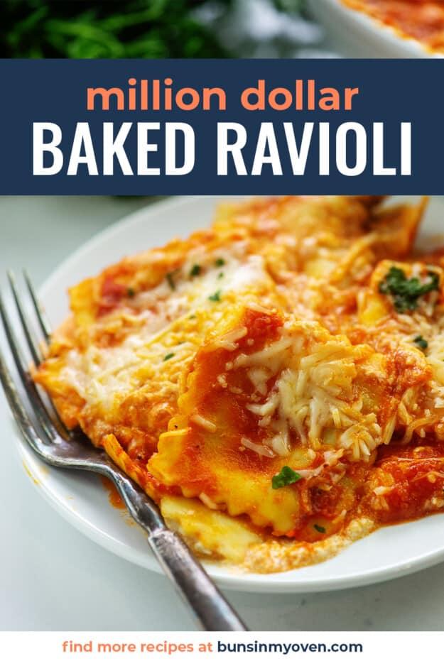 plateful of ravioli casserole.