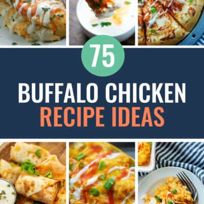 collage of buffalo chicken images.
