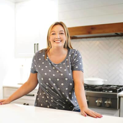 karly campbell in kitchen.