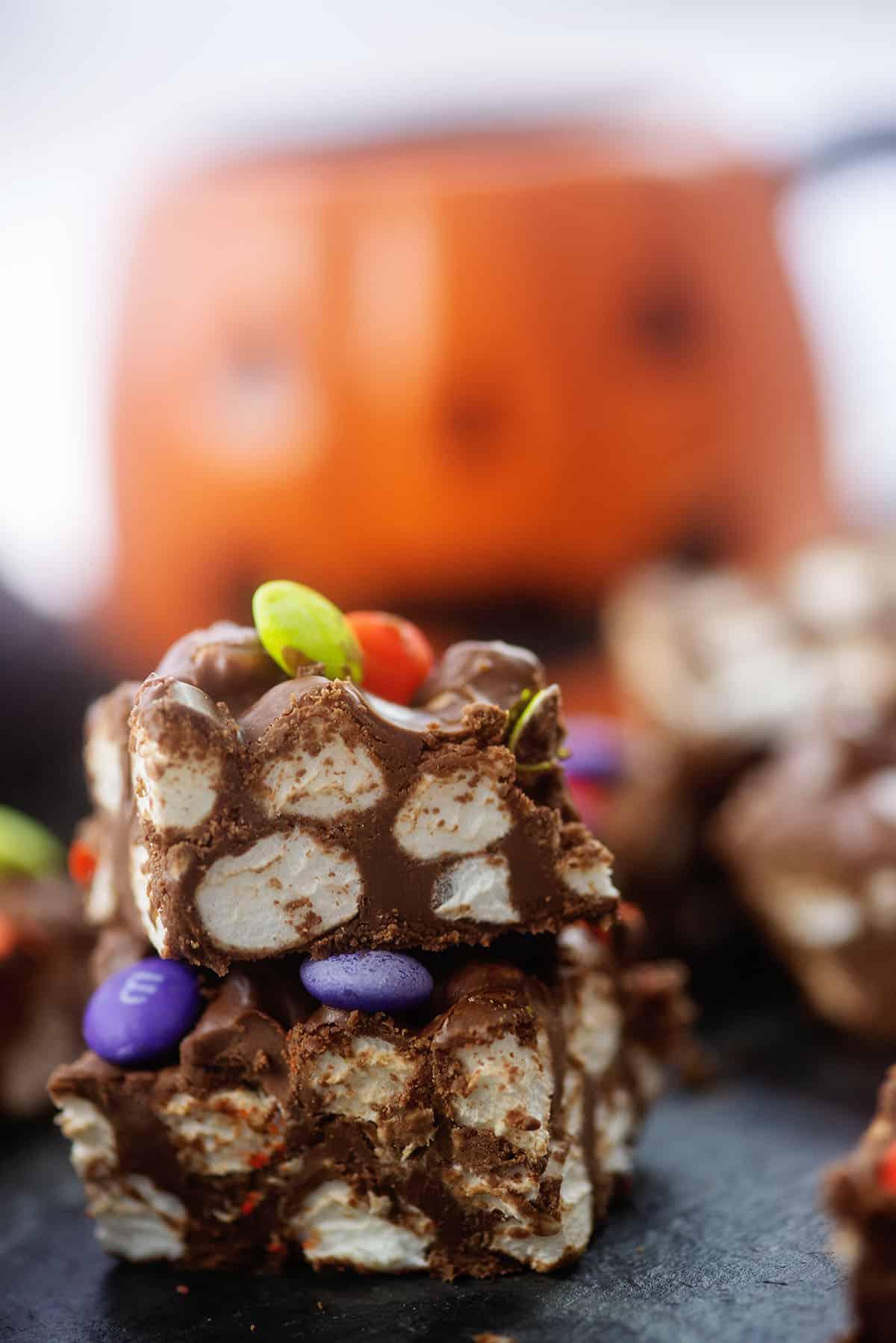 Halloween marshmallow candy bars.