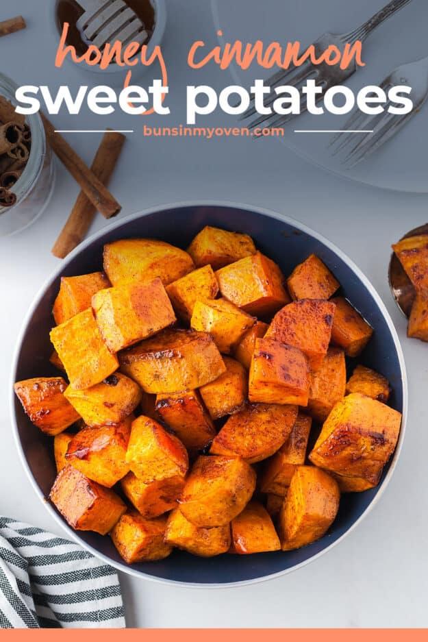 sweet potatoes in bowl.