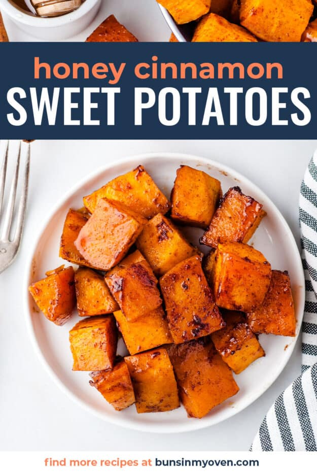 sweet potatoes on white plate.