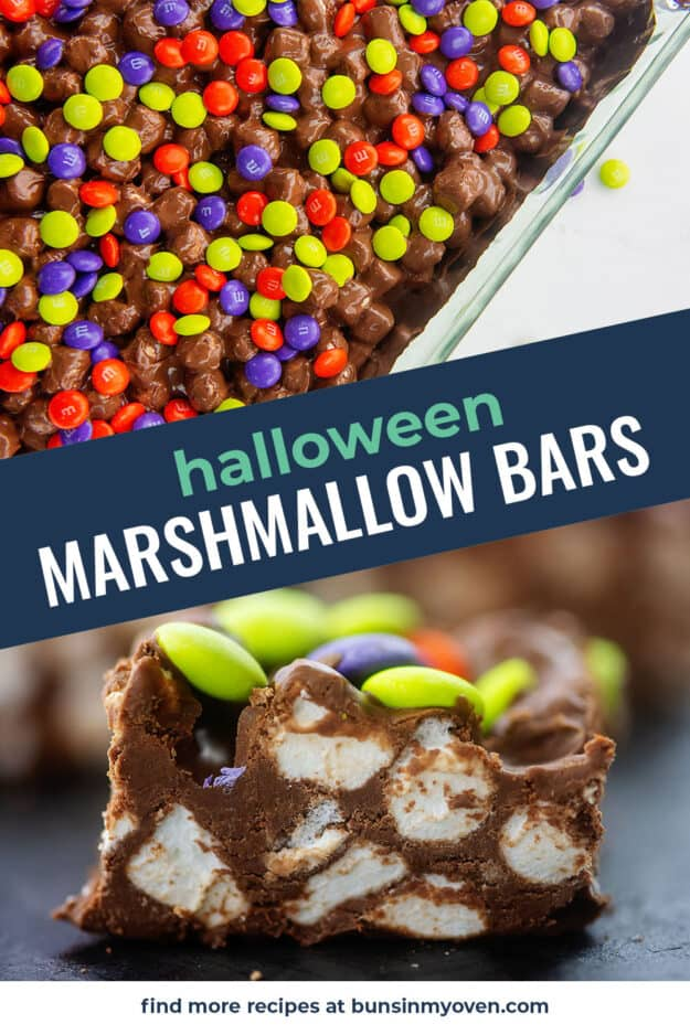 collage of marshmallow candy bars.