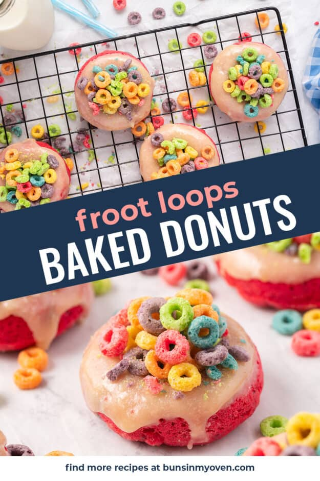 collage of donut images with text for Pinterest.