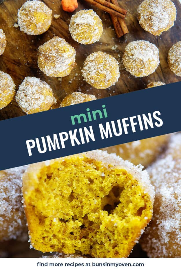 collage of mini muffins with text for Pinterest.