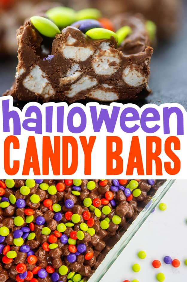 collage of candy bar images.