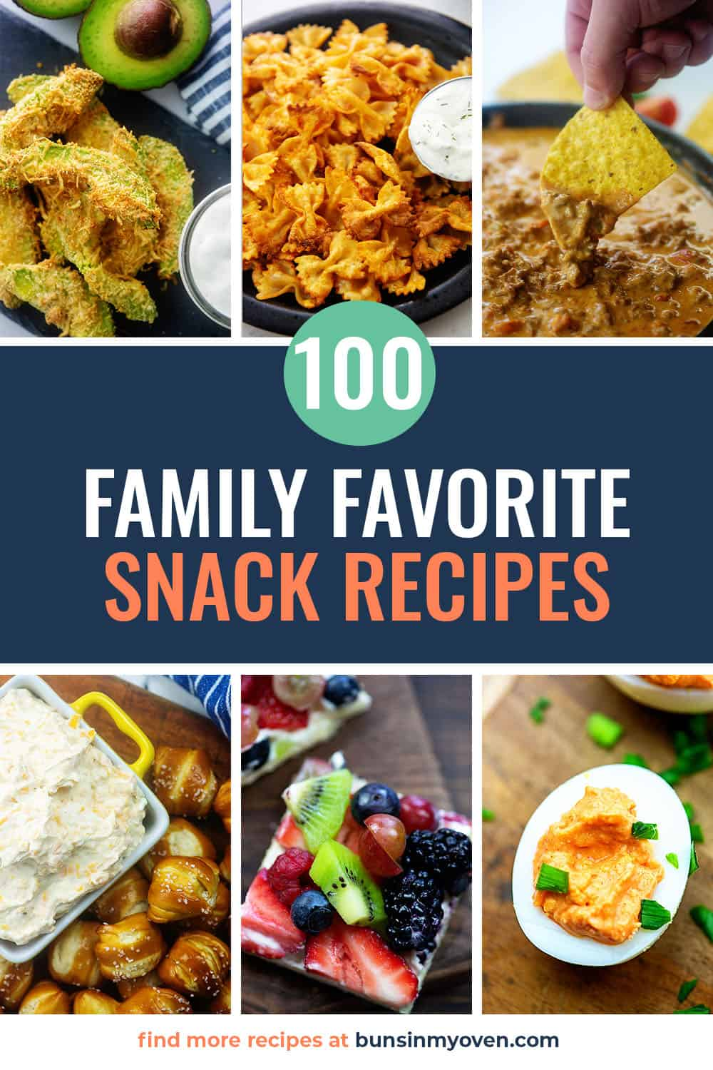 collage of snack photos with text for Pinterest.