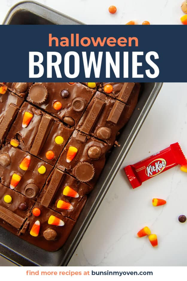 brownies with candy on top.